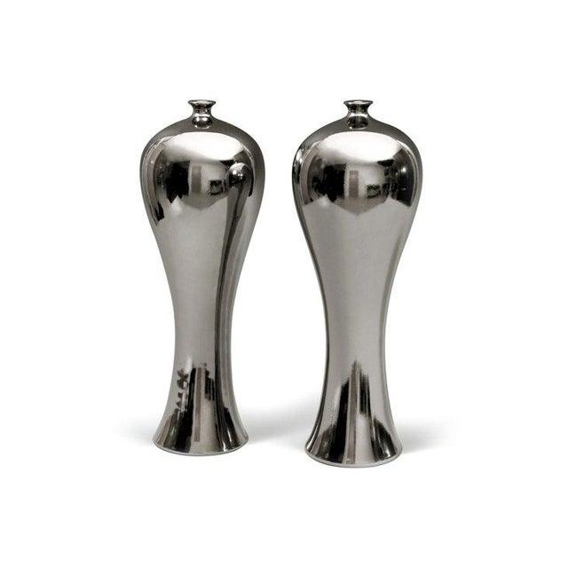 Bungalow 5 Baluster Metallic Vases - Pair - Image 2 of 8