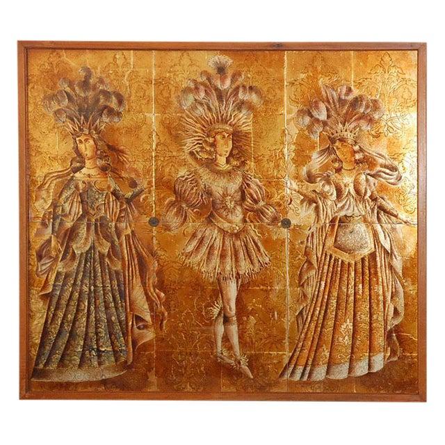 Image of Italian Mid-Century Églomisé Panel