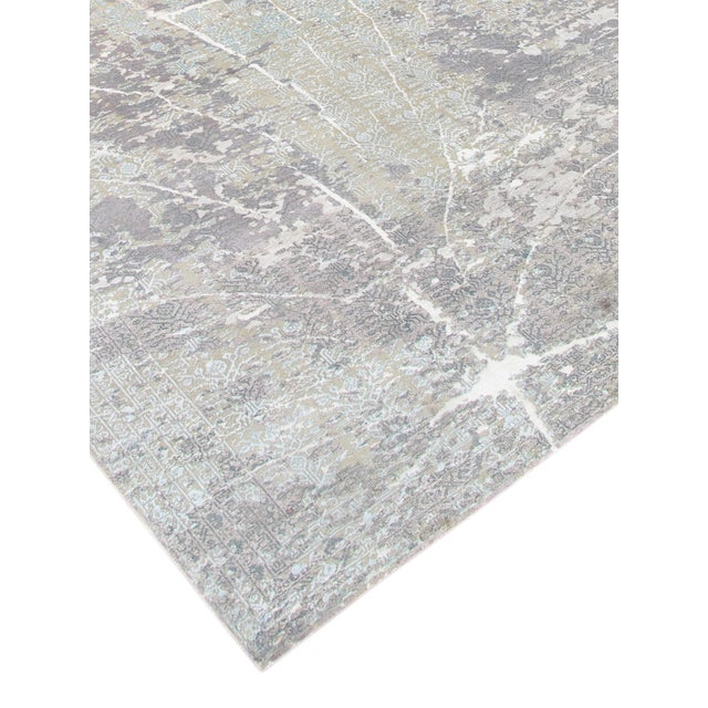 "Pasargad Transitional Silk/Wool Rug - 8' x 10' 2"" - Image 4 of 5"