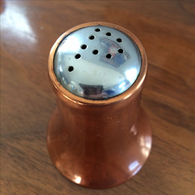 Image of Copper Salt and Pepper Shakers - A Pair