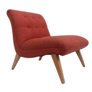 Jens Risom for Knoll Red Slipper Chair