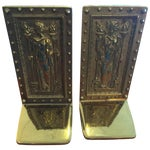 Image of Library of Congress Doors Brass Bookends - Pair