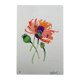 """Steve Klinkel """"Sherbet Poppies"""" Original Watercolor Painting"""