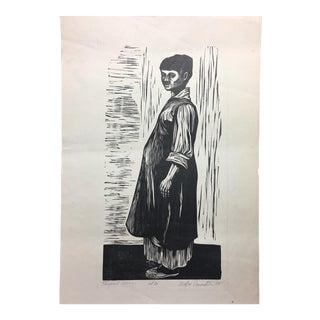 Morton Dimondstein Woodblock Print, 1953