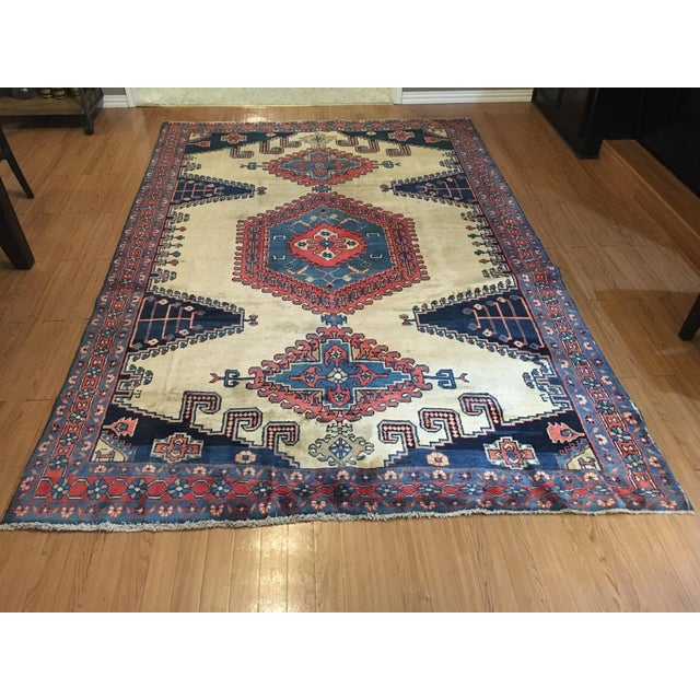 Antique Hand Knotted Persian Rug - 10 X 7 - Image 10 of 11