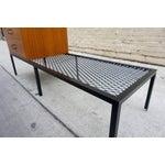 Image of Mahogany Chest on Iron Bench