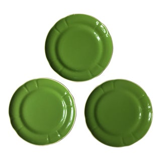 Lime Green Salad Plates by Metlox - Set of 3