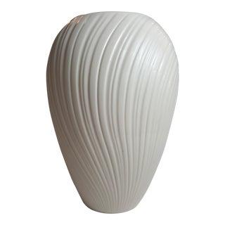 Cream-Colored Ribbed Lenox Vase
