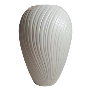Cream-Colored Ribbed Lenox Vase