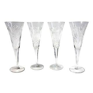 Vintage Champagne Flutes - Set of 4