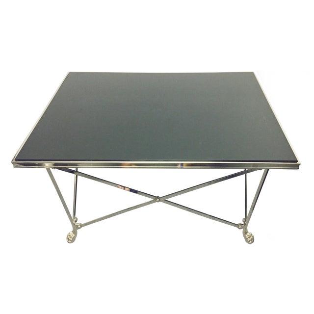 Ralph Lauren Black Glass Top Coffee Table - Image 1 of 8