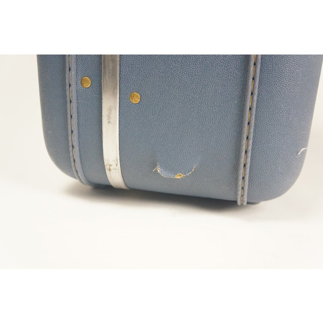 Image of Vintage American Tourrister Blue Suitcases - Set o