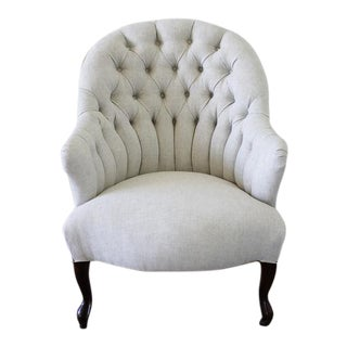 Late 19th Century Napoleon III Style Button Tufted Chair