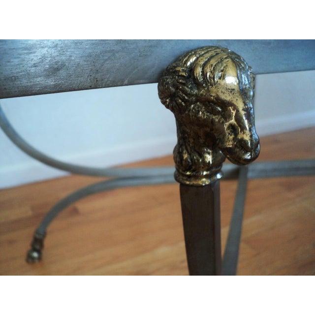 Maison Jansen Brass Ram's Head Oval Coffee Table - Image 7 of 9