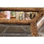 Image of 1870 Antique Italian Repousse Brass Mirror
