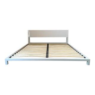 CB2 Alpine White King Bed Frame
