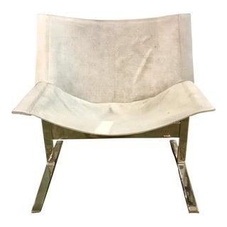 Modern Cowhide Cantilever Chair