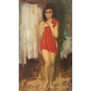 Impressionist Nude With Towel by Alfred Simonpietri