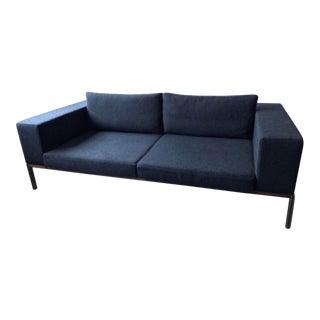 Mid-Century Modern Charcoal Sofa