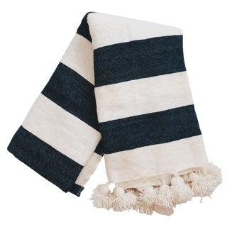 Moroccan Striped Pom Pom Blanket