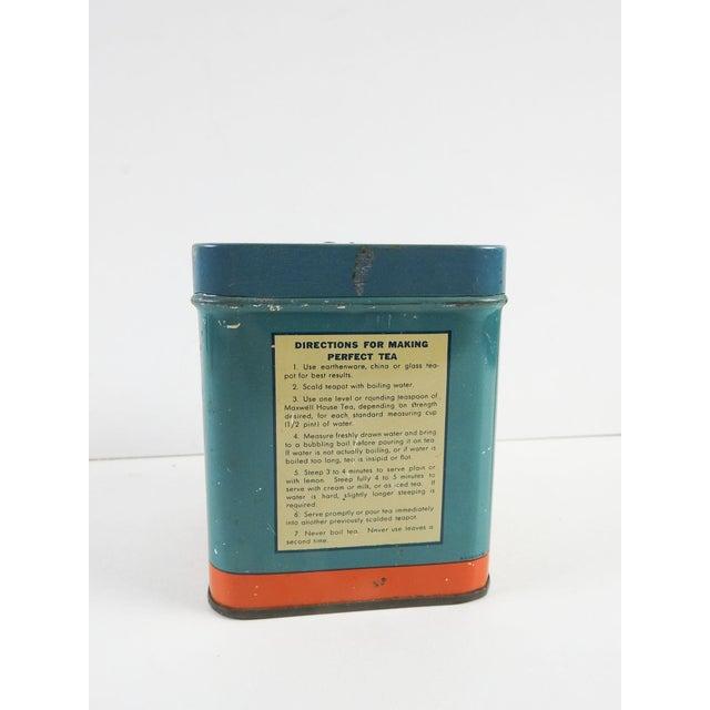 Vintage 1/2 Lb. Maxwell House Orange Pekoe Tea Tin - Image 4 of 8