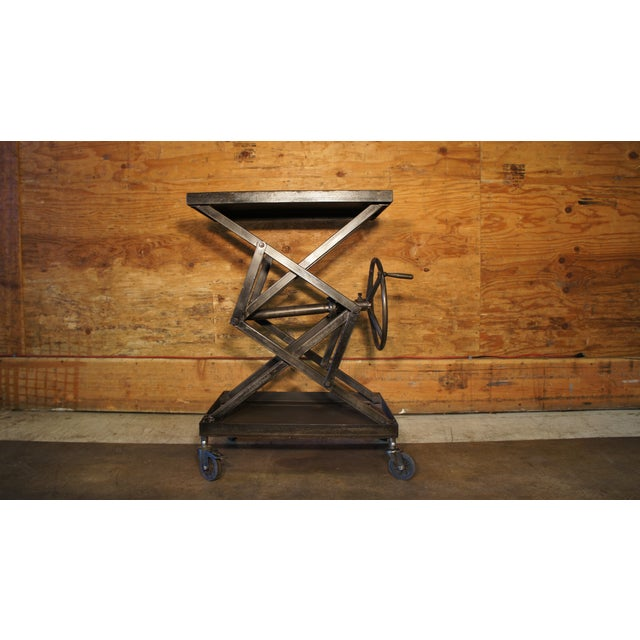 Image of Vintage Industrial Crank Table