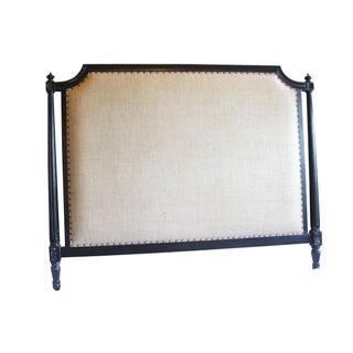 Burlap Upholstered Queen Headboard