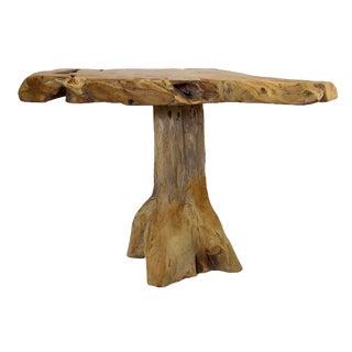 Rustic Teak Carved Table