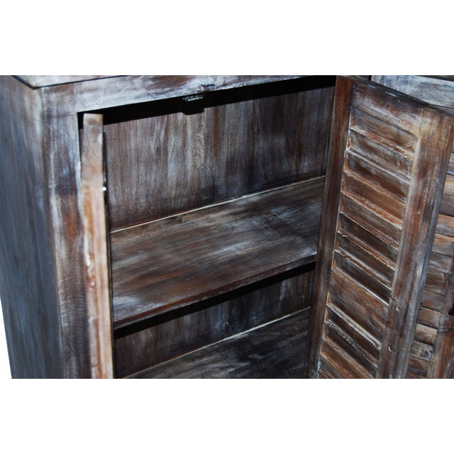 Reclaimed Shutter Cabinet Credenza - Image 3 of 4