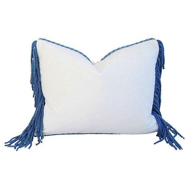 Image of Designer Kravet Blue & White Chinoiserie Pillow