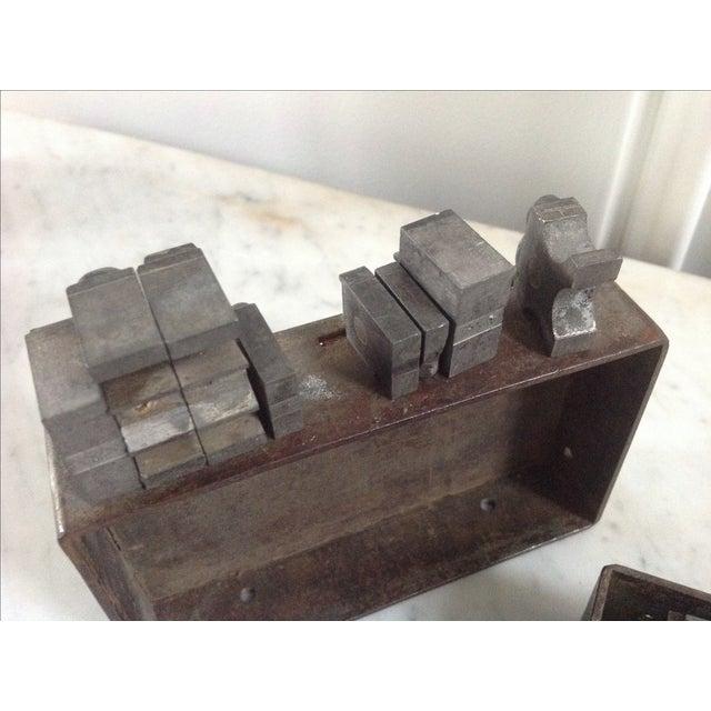 Vintage Industrial Letterpress Blocks - Set of 34 - Image 7 of 8
