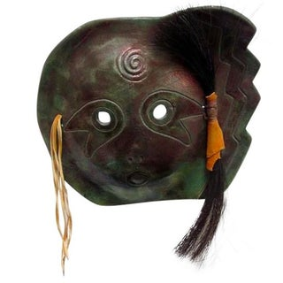 Ceramic Raku Cherokee Mask