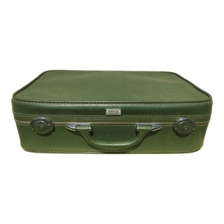 """Amelia Earhart"" Vintage Green Suitcase"