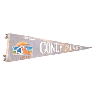 1915 Antique Coney Island Felt Flag