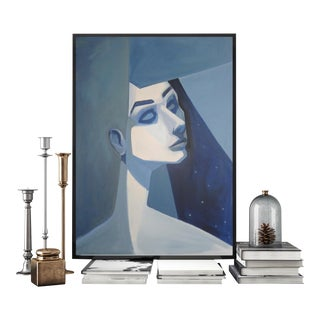 Modern Abstract Cubism Style Female Face Painitng