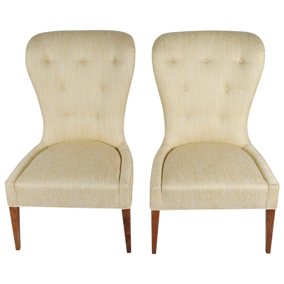Pair Of Modern Balloon Back Chairs   Image 1 Of 6