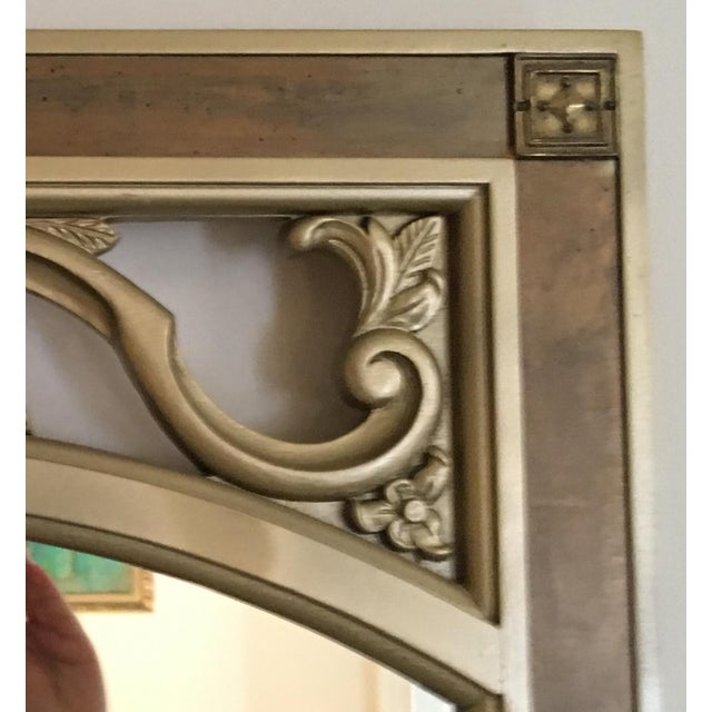 Mid-Century Modern Gilded Wood & Brass Wall Mirrors - A Pair - Image 5 of 6