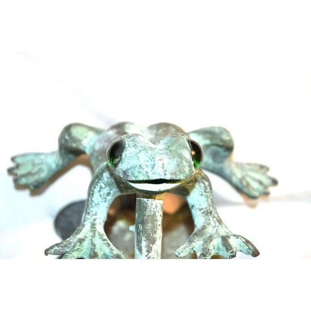 Image of Bronze Frog Door Knocker With Glass Eyes