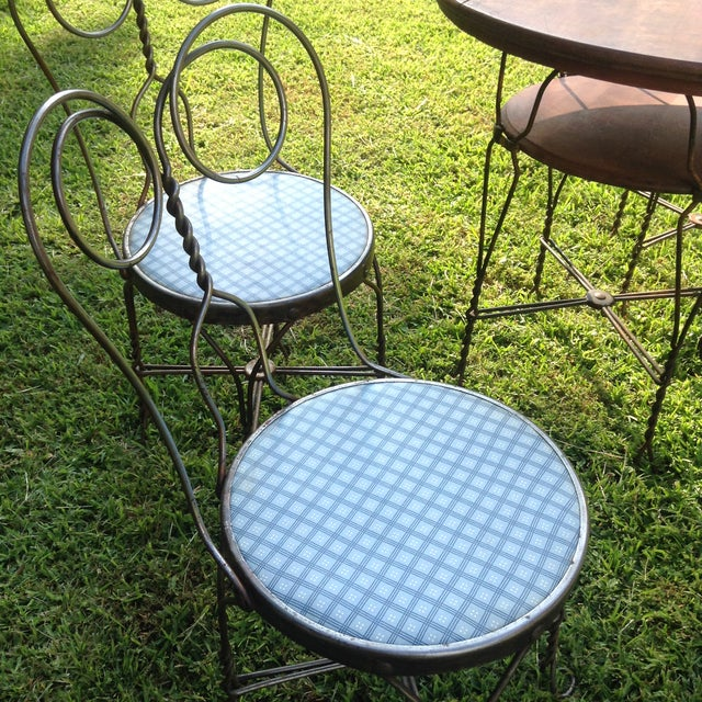Vintage Ice Cream Parlor Table Set- 5 Pieces - Image 4 of 11