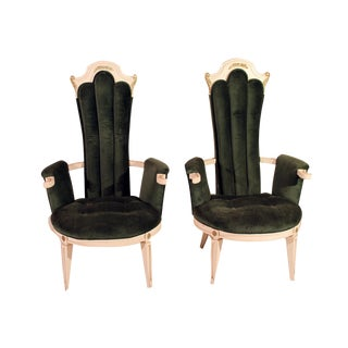 Hollywood Regency Accent Chairs - A Pair