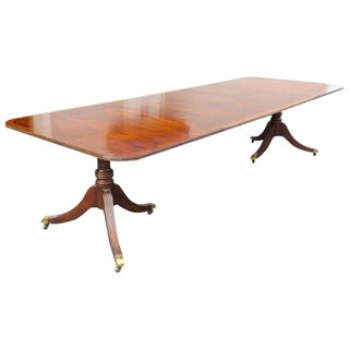 Baker Banded Double Pedestal Dining Table