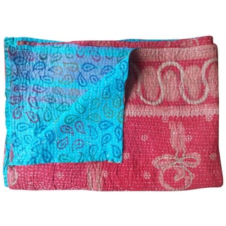 Red and Azure Vintage Throw