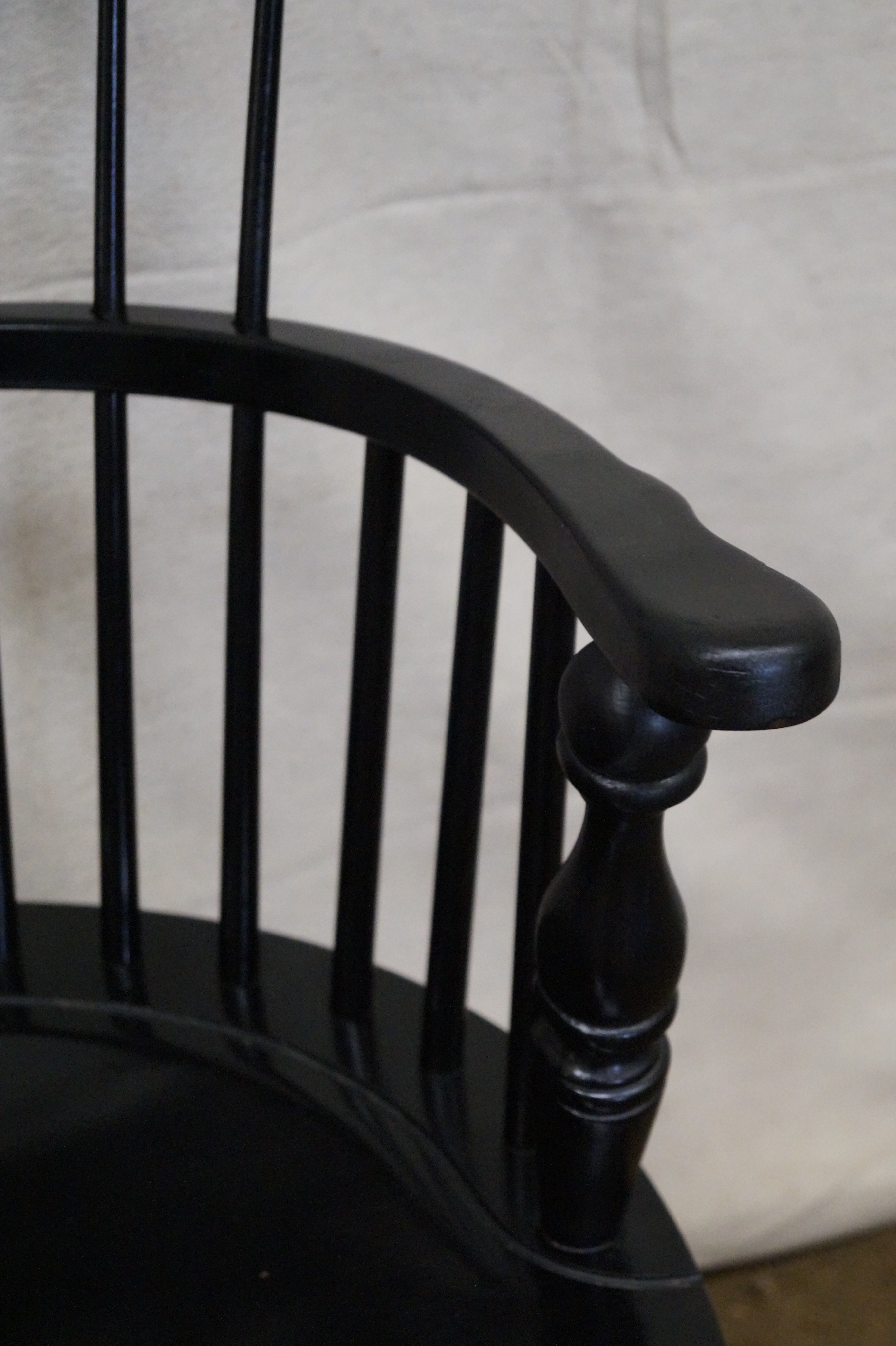 Duckloe Brothers Black Windsor Arm Chairs   Set Of 4   Image 5 Of 9