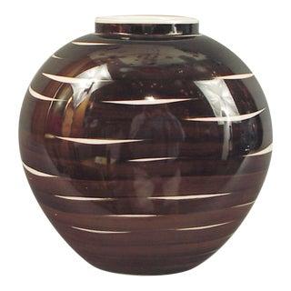 A German KPM Porcelain Vase, Oval, with Panache!