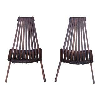 Beach Folding Chairs - A Pair