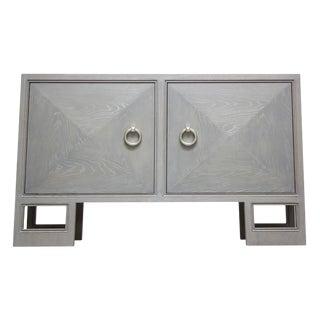 """Truex American Furniture """"St Regis Cabinet"""" Grey Oak Ceruse"""