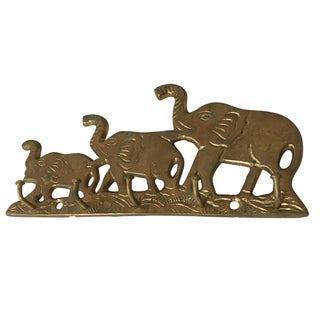 Brass Elephant Hook Rack