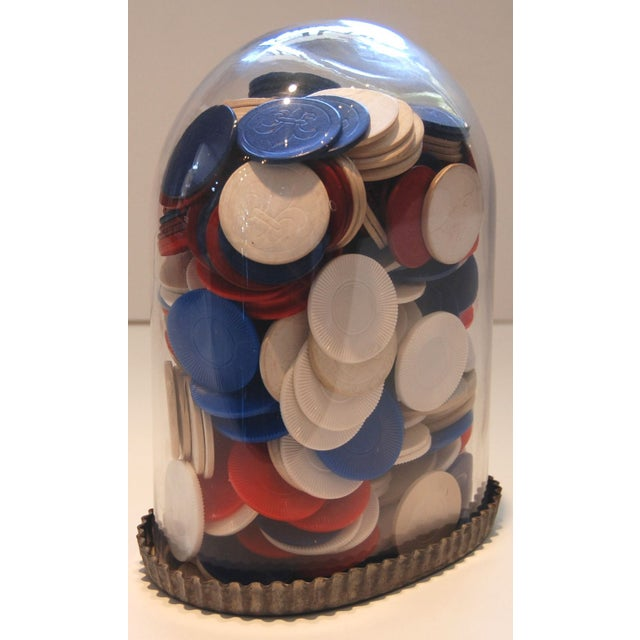 Image of Poker Chips Under Glass