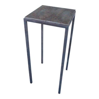 Steel Base and Slate Top Pedestal