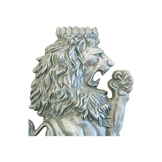 Image of Mid-Century Architectural Lion Plaque
